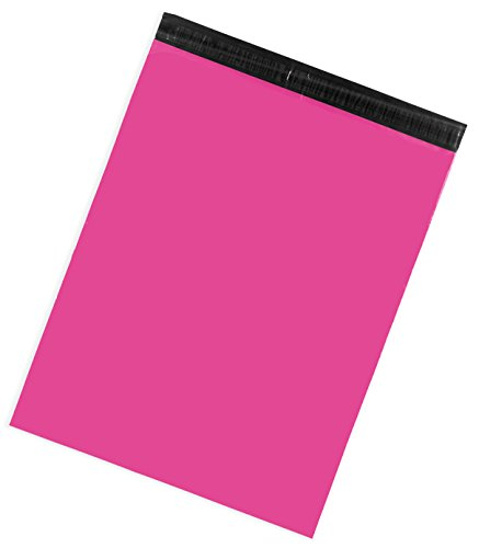 Inspired Mailers Hot Pink Poly Mailers 19x24 - Pack of 50 - Unpadded Large Shipping Bags - Multiple Color and Size Options