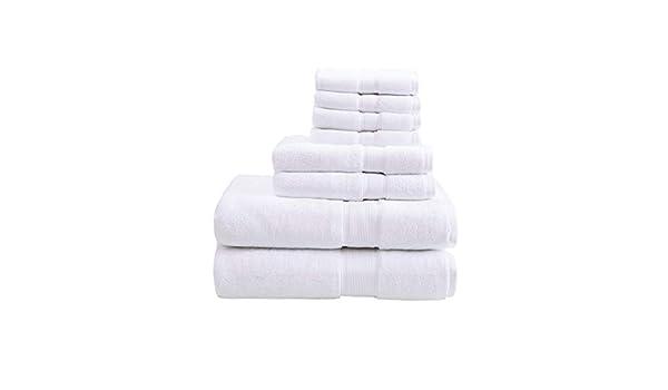 MISC - Juego de toallas de baño de 800 g/m², color blanco, lujosas ...
