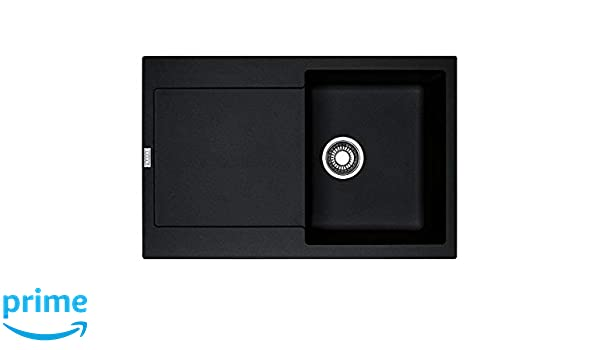 Negro, 1 senos, 350 x 425 mm, 20 cm, 780 mm, 500 mm Fregadero Franke MRG 611