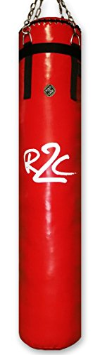 Ring to Cage Muay Thai Banana Heavy Bag - Red - Filled for Muay Thai, MMA, Kickboxing, Boxing