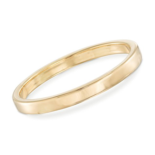 Ross-Simons Certified Italian Andiamo 14kt Yellow Gold Squared-Edge Bangle Bracelet