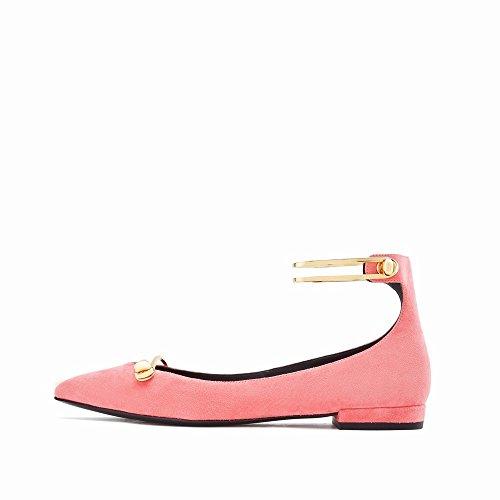 Simple S Femmes' D'Été Chaussures Peu Bouche 'Mot Les Simples Printemps Ré Profonde Plat Chaussures Boucle Plat avec Chaussures de des DHG 37 Femmes Et PxO7qPFA