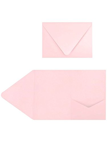 amazon com 5x7 a7 pocket invitations candy pink envelopes pack