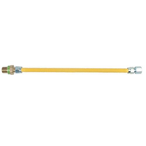 BrassCraft CSSD45R-18 P Safety Plus Gas Appliance 1/2'' Od Connector With 1/2'' Mip Efv x 1/2'' Fip x 18'', Steel by BrassCraft