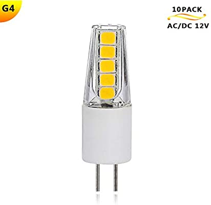 10 Akfg® De Led Acdc Lampe FroidAmpoule Perles Blanc 12v 2w G4 rCoWxBde