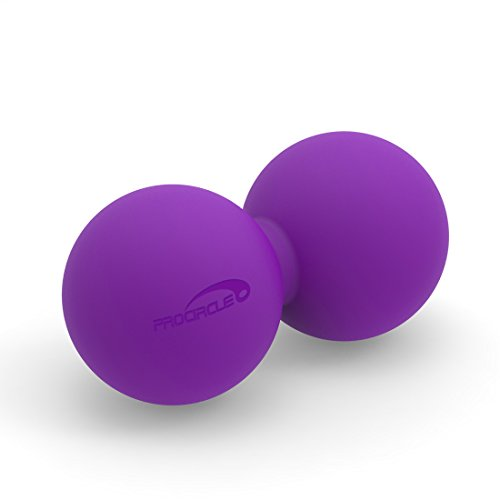 PROCIRCLE Double Massage Peanut Ball - Purple - Mobility Ball for Physical Therapy - High Density Massage Tool for Deep Tissue, Muscle Relax