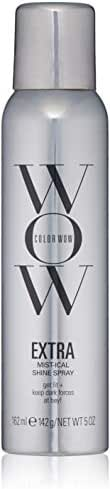 COLOR WOW EXTRA Mist-ical Shine Spray for All Hair Types, Thermal Protection, 5 oz.
