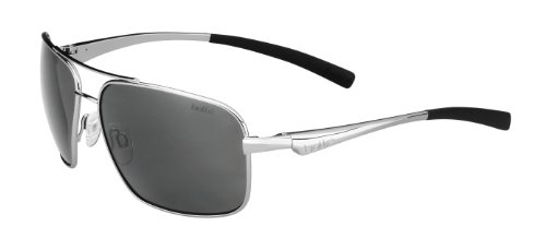 Bolle Brisbane Sunglasses, Shiny Silver by Bolle