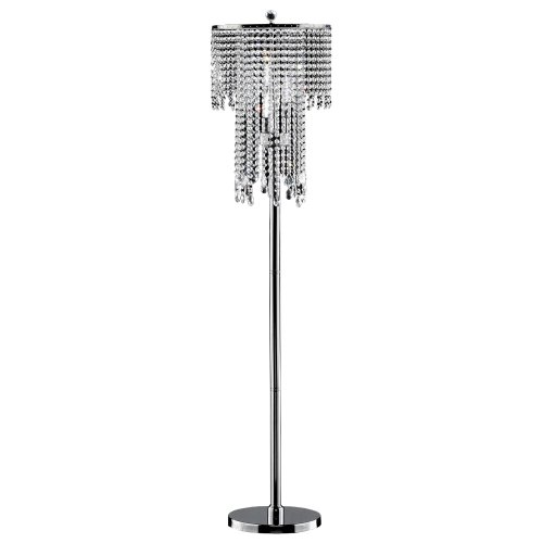 OK-5112f 63-Inch Rain Metal Floor (3 Lamp Crystal)