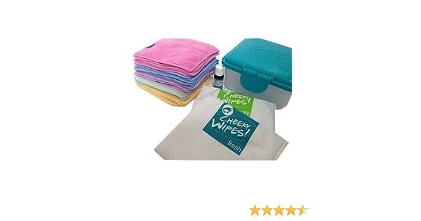 Cheeky Toallitas Manos y caras Kit de tela lavable toallitas húmedas: Amazon.es: Bebé