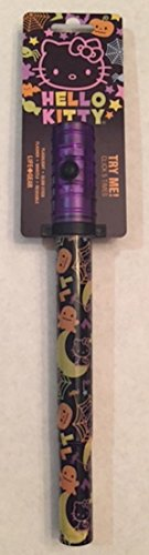 Life Gear Hello Kitty Halloween Hand Held LED Flash Light, Glow Stick, Flasher, Whistle; 5 Different Modes