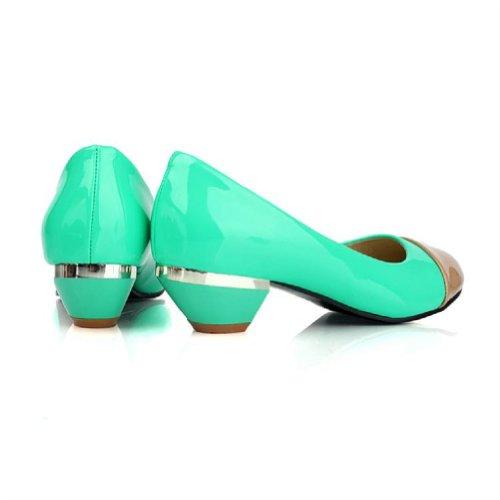 Marque Nouvelle Mode Hit Couleur Femmes Pompes À Talons Bas Chaussures De Travail Chaussures Vert