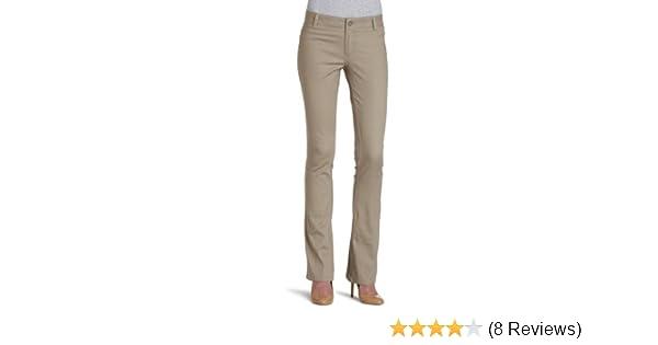 Dickies Girl Juniors Dealer No Pocket Straight Leg Pant,Khaki,15
