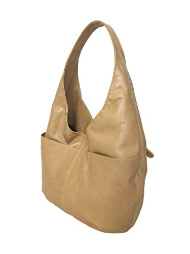 c69f9c5550ac Amazon.com  Fgalaze Genuine Camel Leather Hobo Bag