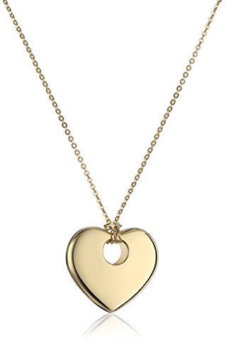 Gold Italian Heart - 14k Yellow Gold Italian Heart Necklace, 17