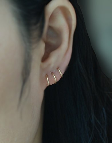 Amazon 14k Yellow Gold Filled Cartilage Hoop earring Tiny