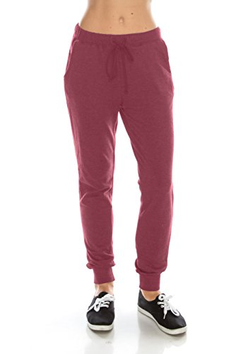 Nolabel Women's Activewear Slim Fit French Terry Drawstring Jogger Pants Sweatpants with Pockets...