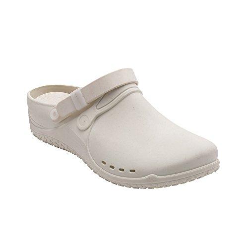nbsp; Donna Sabot Scholl sandali Bianco wTYZnqax8