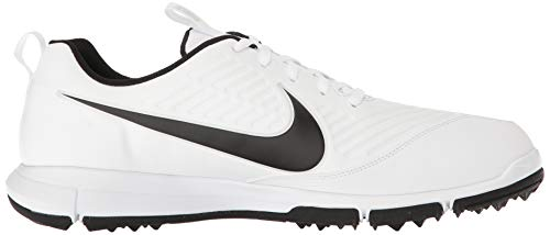 Nike Men's Explorer 2 Golf Shoe, White/Black, 11.5 Wide US