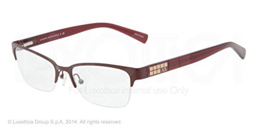 Armani Exchange AX 1004 Women's Eyeglasses Satin Brown - Price Armani Glasses