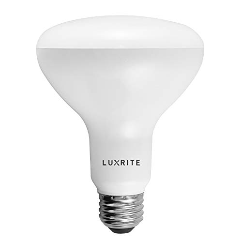 Luxrite BR30 LED Light Bulb, 9W (65W Equivalent), 3500K Natural White, 650 Lumens, Dimmable, Damp Rated, LED Flood Light Bulb, UL Listed, E26 Medium Base, 1-Pack