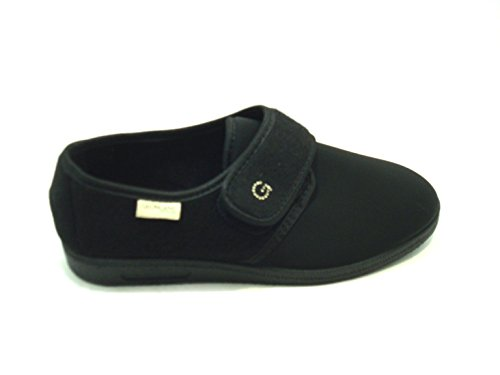 GRÜNLAND Women's Slippers Black black vBX51Bdt