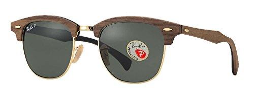Ray-Ban RB3016 Klassische Clubmaster Sonnenbrille Walnut Frame polarisierte feste G-15 Linse