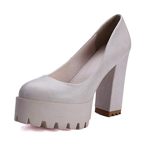 MENGLTX MENGLTX MENGLTX High Heels Sandalen Mode Neue Frauen Pumpt Dicke High Heels Plattform Frühling Sommer Einzelne Schuhe Frau High Heels Weibliche Kleid Schuhe B07QLVJX61 Sport- & Outdoorschuhe Räumungsverkauf 13647a