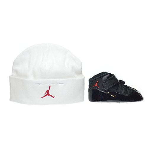 Jordan 11 Retro Gift Pack Crib Shoes Black/Gym Red-White-Anthracite 378049-002 (3 M US)