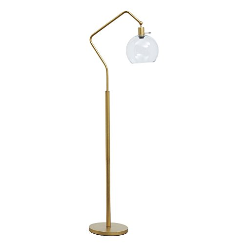 Ashley Furniture Signature Design - Marilee Metal Floor Lamp - Antique Brass Finish