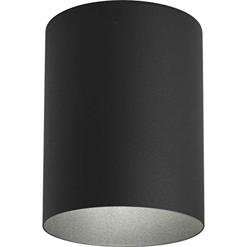 Progress Lighting P5774-31 5-Inch Flush Mount Cylinder with Heavy Duty Aluminum Construction Powder Coated Finish and UL Listed for Wet Locations, Black