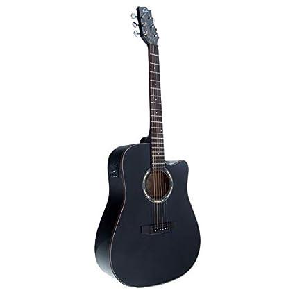 Guitarra Acústica Álvarez AV-52bk, color Negro