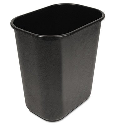 Soft-Sided Wastebasket, 28qt, Black, Sold as 1 Each by Unisan