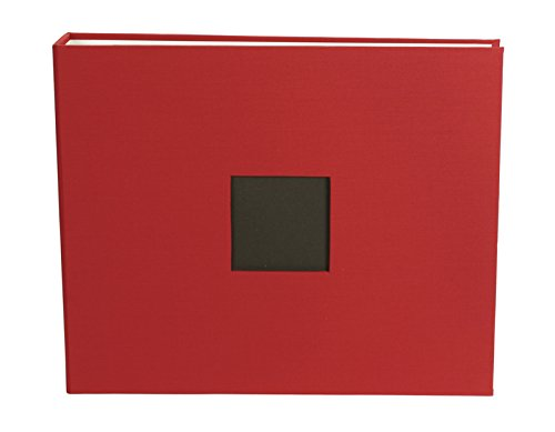 American Crafts 12 x 12-inch Cloth D-Ring Album by Cardinal, includes 5 page protectors -