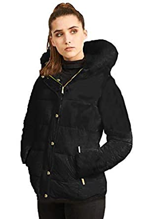 d91ec9712895 Brave Soul Ladies Padded Faux Fur Jacket: Amazon.co.uk: Clothing