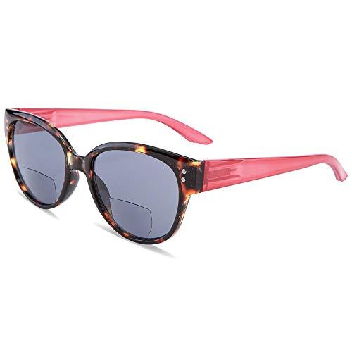 EYEGUARD Bifocal Reading Sunglasses UV400 Protection Readers for Women Comfortable Stylish Reading Glasses ()
