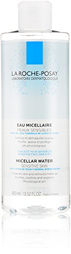 La Roche-Posay Micellar Cleansing Water and Makeup Remover for Sensitive Skin, 13.5 Fl. Oz.