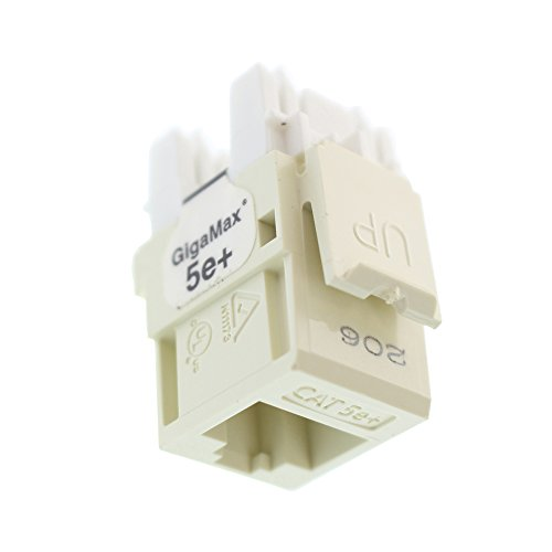 - Leviton GigaMax Cat5e+ RJ45 QuickPort Jack, Almond 5G110-RA5