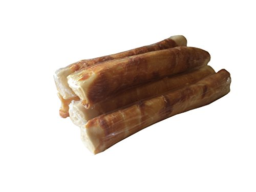 123 Treats Rawhide Retriever Roll with Chicken 9-10 Delicious Dog Stick Chews - All-Natural Grass-Fed Free-Range Dog Chews