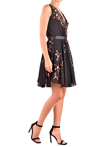 Poliéster Blugirl Mcbi35774 Mujer Vestido Negro wqrzOHSz