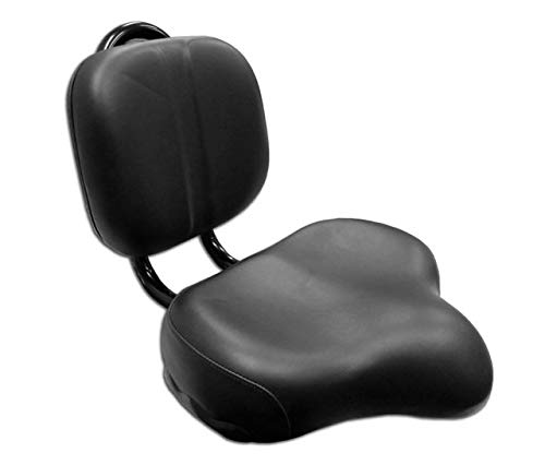 Flying Horse Bicycle Seat Saddle Back Rest Oversize Beach Cruiser Tandem- Black