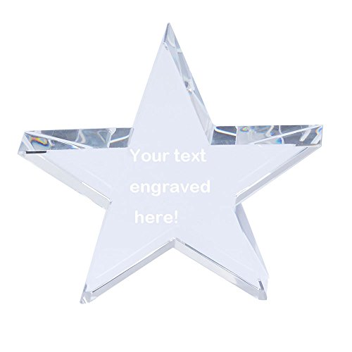 Star Awards Logo Crystal (LONGWIN Personalized Premium Crystal Star Award Special Gift)