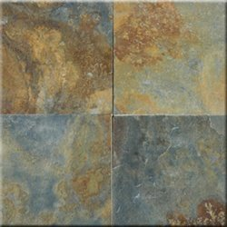 12x12 China Multicolor Solid Cleft Square Slate Flooring