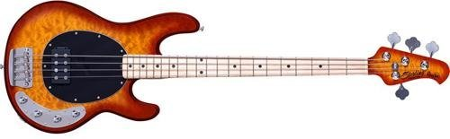 Sterling By MusicMan 4 String Sterling by Music Man Ray34 StingRay Bass, Honey Burst, Quilted Maple Top, Right Handed (Ray34QM-HB)
