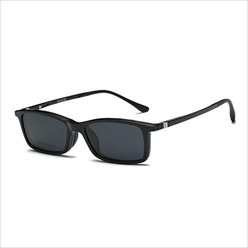 Conductor Gafas Espejos y Carpeta Conjunto de Un HOME Color Sol Gafas 2 Marcos polarizadas de Día con Gafas magnéticas Gafas Noche 1 de Sol QZ Hw0RE6qx0