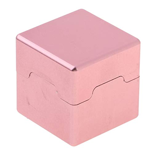 (CUTICATE Billiard Chalk Holder - Performance Aluminum Snooker Pool Cue Chalk Holder Case Container Box - Choice of Color - Pink)