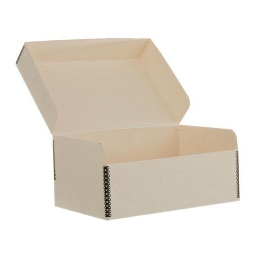 Lineco Photo Storage Box, Holds 1100 4x6'' or 5x7'' Photos, Hinged Lid, Color: Tan