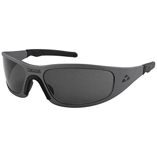 Liquid Eyewear,Gasket Model, Aluminum Sunglasses, Gun Metal Frame, Smoke Polarized Lens-Made in The USA