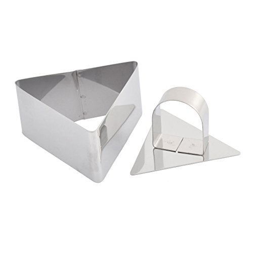 eDealMax Triangle métallique en forme de petit gâteau de cuisine Biscuit Cookie Cutter gâteau ensemble de moulage 2 en 1