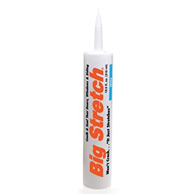 Sashco Big Stretch Acrylic Latex High-Performance Caulking Sealant, 10.5 Ounce Cartridge, White (Pack of 12)